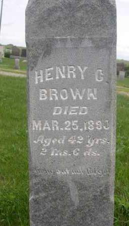 BROWN, HENRY C. - Gage County, Nebraska | HENRY C. BROWN - Nebraska Gravestone Photos