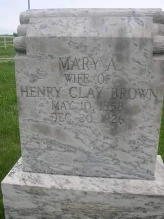 BROWN, MARY A. - Gage County, Nebraska | MARY A. BROWN - Nebraska Gravestone Photos