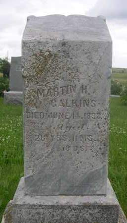 CALKINS, MARTIN H. - Gage County, Nebraska   MARTIN H. CALKINS - Nebraska Gravestone Photos