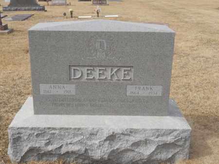 DEEKE, FRANK - Gage County, Nebraska | FRANK DEEKE - Nebraska Gravestone Photos