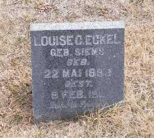 ECKEL, LOUISE - Gage County, Nebraska | LOUISE ECKEL - Nebraska Gravestone Photos