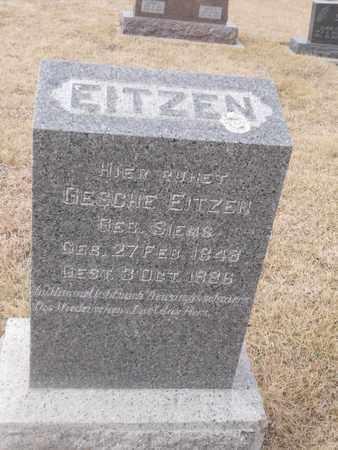 EITZEN, GESCHE - Gage County, Nebraska | GESCHE EITZEN - Nebraska Gravestone Photos
