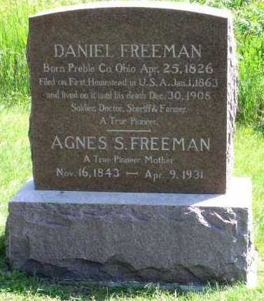 FREEMAN, AGNES S. - Gage County, Nebraska | AGNES S. FREEMAN - Nebraska Gravestone Photos
