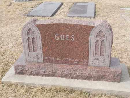 GOES, REV. JOHN - Gage County, Nebraska   REV. JOHN GOES - Nebraska Gravestone Photos