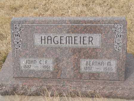 HAGEMEIER, BERTHA - Gage County, Nebraska | BERTHA HAGEMEIER - Nebraska Gravestone Photos