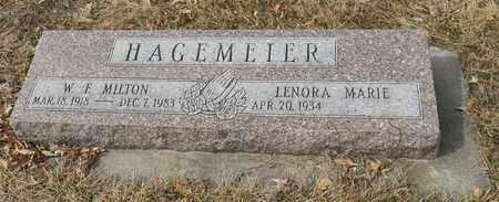 HAGEMEIER, LENORA MARIE - Gage County, Nebraska | LENORA MARIE HAGEMEIER - Nebraska Gravestone Photos