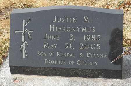 HIERONYMUS, JUSTIN - Gage County, Nebraska   JUSTIN HIERONYMUS - Nebraska Gravestone Photos