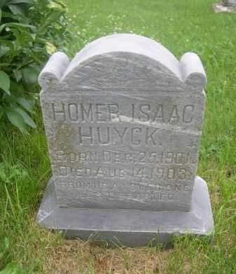 HUYCK, HOMER ISAAC - Gage County, Nebraska | HOMER ISAAC HUYCK - Nebraska Gravestone Photos