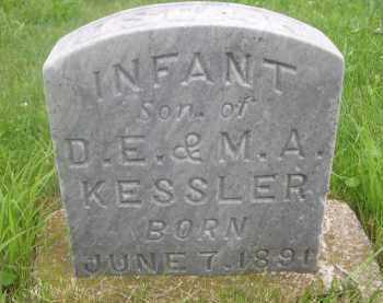 KESSLER, INFANT SON OF D.E. & M. A. - Gage County, Nebraska | INFANT SON OF D.E. & M. A. KESSLER - Nebraska Gravestone Photos