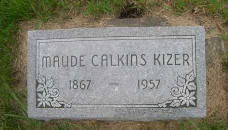 KIZER, MAUDE CALKINS - Gage County, Nebraska | MAUDE CALKINS KIZER - Nebraska Gravestone Photos