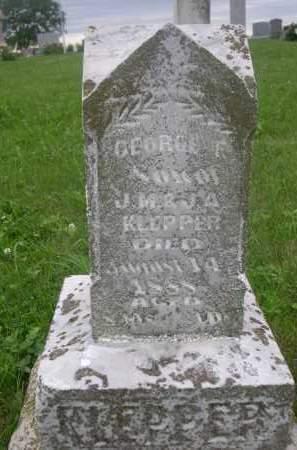 KLEPPER, GEORGE F. - Gage County, Nebraska | GEORGE F. KLEPPER - Nebraska Gravestone Photos