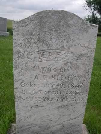 KLINE, MARY - Gage County, Nebraska | MARY KLINE - Nebraska Gravestone Photos