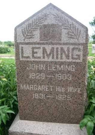 LEMING, MARGARET - Gage County, Nebraska | MARGARET LEMING - Nebraska Gravestone Photos