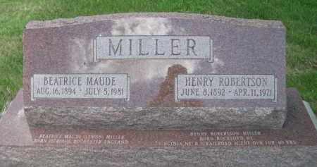 MILLER, BEATRICE MAUDE - Gage County, Nebraska | BEATRICE MAUDE MILLER - Nebraska Gravestone Photos