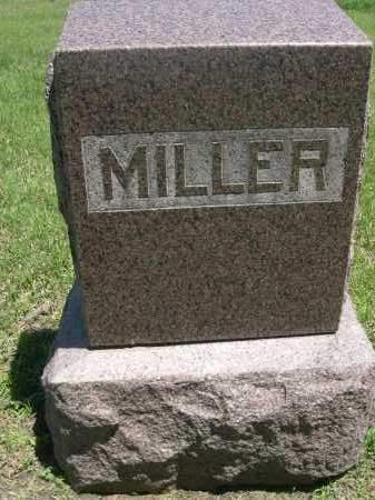 MILLER, FAMILY - Gage County, Nebraska | FAMILY MILLER - Nebraska Gravestone Photos