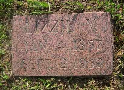 MILLER, LIZZIE V. - Gage County, Nebraska   LIZZIE V. MILLER - Nebraska Gravestone Photos