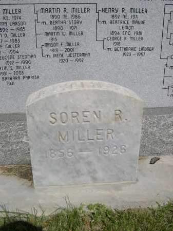 MILLER, SOREN R. - Gage County, Nebraska | SOREN R. MILLER - Nebraska Gravestone Photos