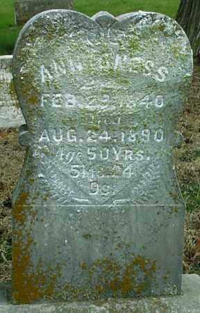 ONESS, ANNA - Gage County, Nebraska | ANNA ONESS - Nebraska Gravestone Photos