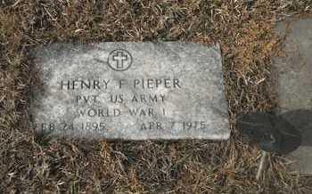 PIEPER, HENRY - Gage County, Nebraska | HENRY PIEPER - Nebraska Gravestone Photos