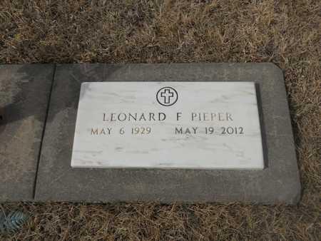 PIEPER, LEONARD - Gage County, Nebraska | LEONARD PIEPER - Nebraska Gravestone Photos