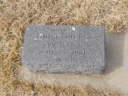 PIEPER, LOUISE - Gage County, Nebraska | LOUISE PIEPER - Nebraska Gravestone Photos