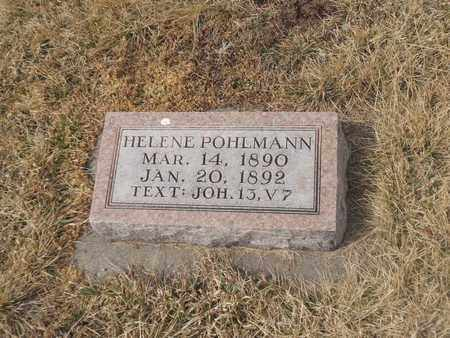 POHLMANN, HELENE - Gage County, Nebraska   HELENE POHLMANN - Nebraska Gravestone Photos