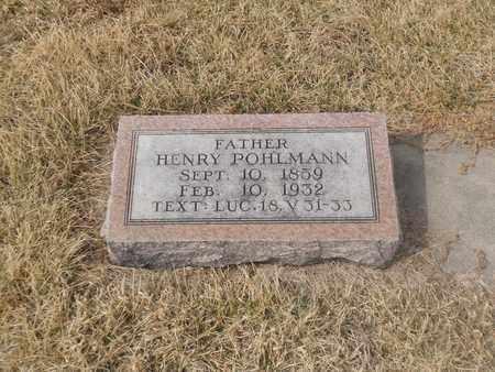 POHLMANN, HENRY - Gage County, Nebraska | HENRY POHLMANN - Nebraska Gravestone Photos