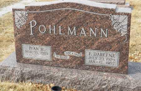 POHLMANN, IVAN - Gage County, Nebraska | IVAN POHLMANN - Nebraska Gravestone Photos