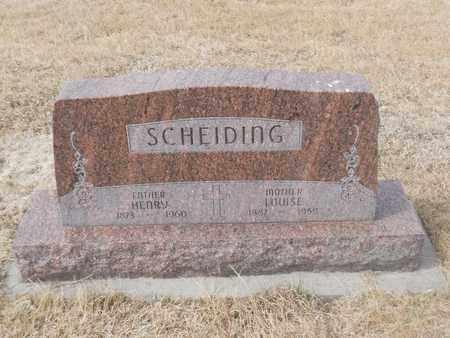 SCHEIDING, LOUISE - Gage County, Nebraska | LOUISE SCHEIDING - Nebraska Gravestone Photos