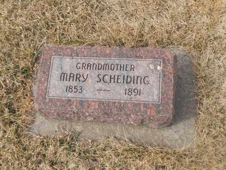 SCHEIDING, MARY - Gage County, Nebraska | MARY SCHEIDING - Nebraska Gravestone Photos