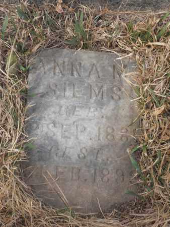 SIEMS, ANNA - Gage County, Nebraska | ANNA SIEMS - Nebraska Gravestone Photos