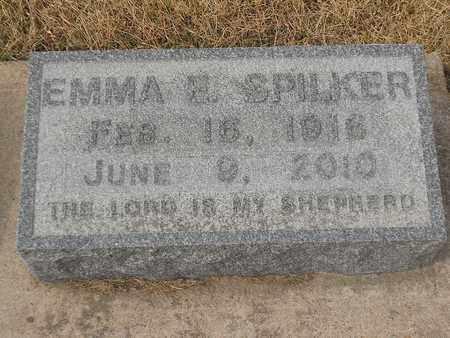SPILKER, EMMA - Gage County, Nebraska   EMMA SPILKER - Nebraska Gravestone Photos
