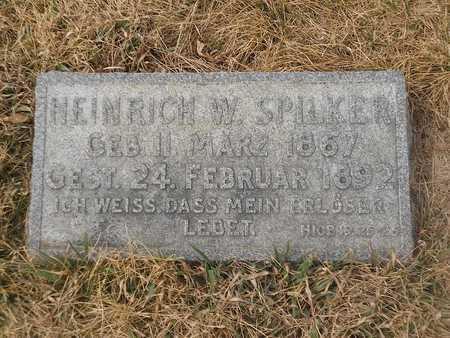 SPILKER, HEINRICH - Gage County, Nebraska   HEINRICH SPILKER - Nebraska Gravestone Photos