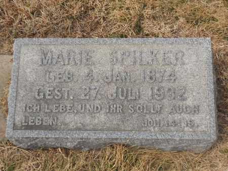 SPILKER, MARIE - Gage County, Nebraska | MARIE SPILKER - Nebraska Gravestone Photos