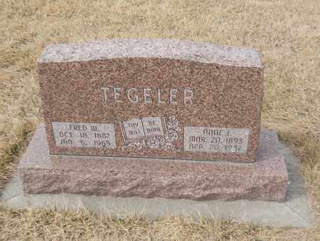 TEGELER, FRED - Gage County, Nebraska | FRED TEGELER - Nebraska Gravestone Photos