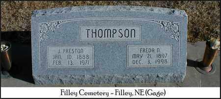 THOMPSON, FREDA N. - Gage County, Nebraska | FREDA N. THOMPSON - Nebraska Gravestone Photos