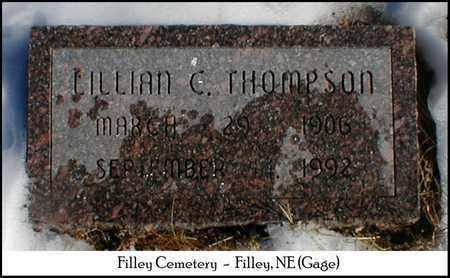 THOMPSON, LILLIAN C. - Gage County, Nebraska | LILLIAN C. THOMPSON - Nebraska Gravestone Photos