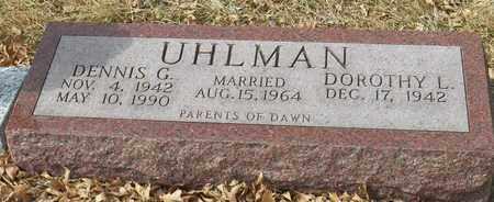 UHLMAN, DENNIS - Gage County, Nebraska | DENNIS UHLMAN - Nebraska Gravestone Photos