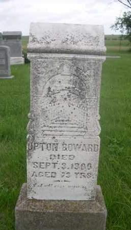BOWARD, UPTON - Gage County, Nebraska   UPTON BOWARD - Nebraska Gravestone Photos