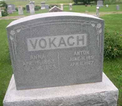 VOKACH, ANNA - Gage County, Nebraska | ANNA VOKACH - Nebraska Gravestone Photos