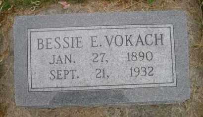 VOKACH, BESSIE E. - Gage County, Nebraska | BESSIE E. VOKACH - Nebraska Gravestone Photos