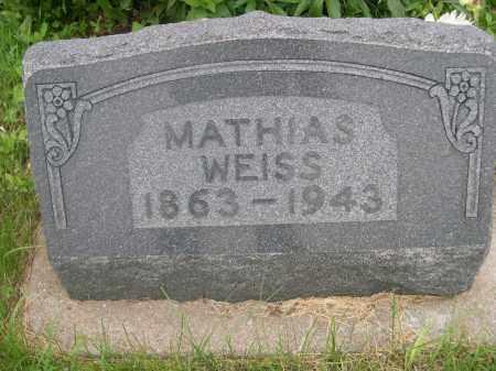 WEISS, MATHIAS - Gage County, Nebraska | MATHIAS WEISS - Nebraska Gravestone Photos
