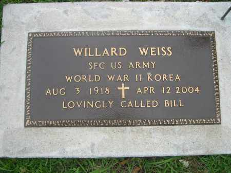 WEISS, WILLARD - Gage County, Nebraska | WILLARD WEISS - Nebraska Gravestone Photos