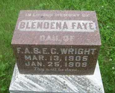 WRIGHT, BLENDENA FAYE - Gage County, Nebraska | BLENDENA FAYE WRIGHT - Nebraska Gravestone Photos