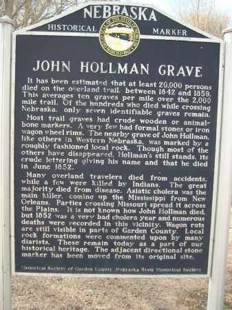 HOLLMAN, JOHN - Garden County, Nebraska   JOHN HOLLMAN - Nebraska Gravestone Photos