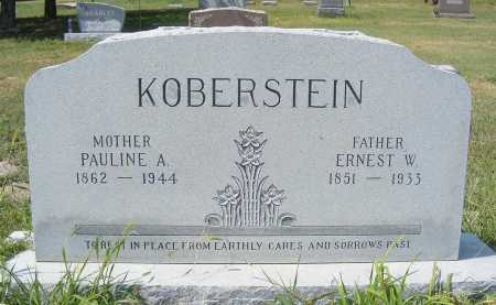 KOBERSTEIN, ERNEST W. - Garden County, Nebraska | ERNEST W. KOBERSTEIN - Nebraska Gravestone Photos