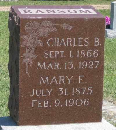 RANSOM, CHARLES  B. - Garden County, Nebraska | CHARLES  B. RANSOM - Nebraska Gravestone Photos