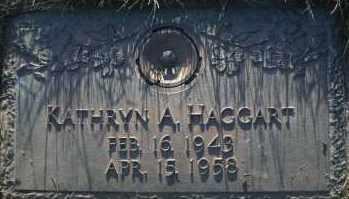 HAGGART, KATHRYN A - Hall County, Nebraska | KATHRYN A HAGGART - Nebraska Gravestone Photos