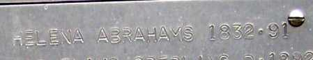 ABRAHAMS, HELENA - Hamilton County, Nebraska | HELENA ABRAHAMS - Nebraska Gravestone Photos