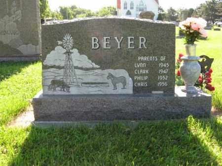 BEYER, CHESTER (BACK SIDE) - Hamilton County, Nebraska | CHESTER (BACK SIDE) BEYER - Nebraska Gravestone Photos